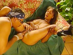 Ebony Couple Sucking And Fucking On Sofa