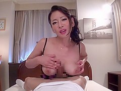Crazy Japanese whore Rei Kitajima in Amazing handjobs, couple JAV video