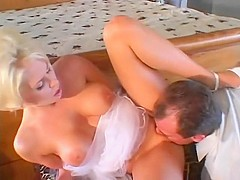 Amazing pornstar Jamie Brooks in incredible facial, blonde xxx scene