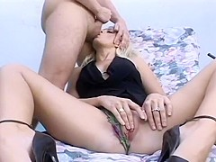 Blond Viciously Sodomized & Creamed On