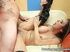 Amazing pornstars Tommy Pistol, Nadia Styles in Best Latex, Anal sex scene
