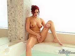 Best pornstar in Incredible Redhead, Solo Girl adult clip