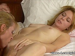 Fabulous pornstars Kimber Peters, Nicole Moore in Best Blonde, Dildos/Toys porn movie