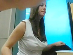 Horny College Chick Fucks in the Library wiht Boyf...