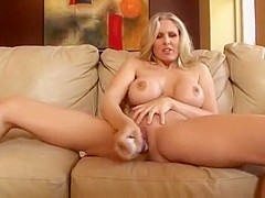 Sexy mom and her toy