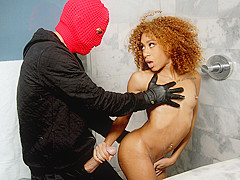 Kendall Woods & Tyler Steel in Shower Robber - RoundAndBrown