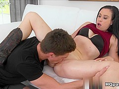 Horny pornstar Bruce Venture in Hottest Brunette, Cunnilingus sex movie
