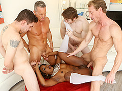 Skyler Nicole & Ryan Mclane & Brad Knight & Marcus London & Jake Jace in White Out #03, Scene #02 -