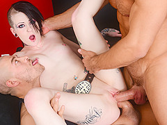 Mallory Maneater & Xander Corvus & Johnny Castle in Mallory Maneater Double Penetration - BurningAng