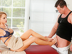 Eric Masterson & Alix Lynx in Honey, It Started As A Footjob: Part One - FantasyMassage