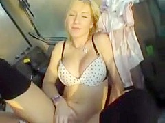 Horny blonde with a soft perky body gets fucked on film
