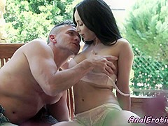 Gorgeous milf anally fucked by her lover