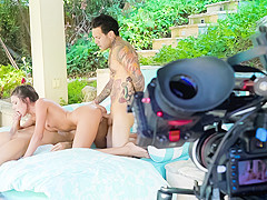 Adria Rae & Nina North & Xander Corvus & Small Hands in Sisters in Heat - PeterNorth