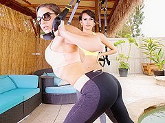 Janice Griffith & Abella Danger & Charles Dera in Training My Neighbor - RealityKings