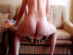 Chubby amateur fucks in the ass for money