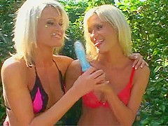 British blonde twins fuck a lucky guy