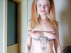 Pervy Pixie Tits squashed  mashed and punished!
