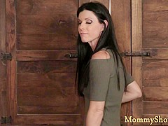 Busty stepmom fingers her stepdaughter
