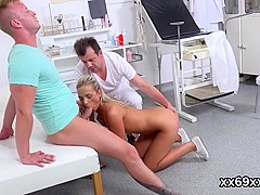 Bf as###ts with hymen examination and poking of virgin kitten
