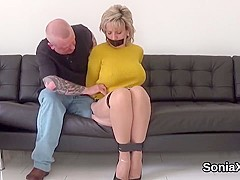 Cheating british mature lady sonia shows off her huge jugs