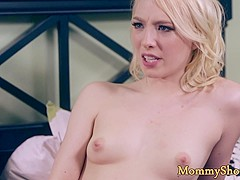 Busty milf fingers stepdaughters hairy pussy
