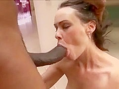 Hairy MILF fucked by black guy