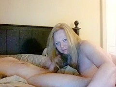 Hot Granny Blonde Hairjob and Cum in Hair  Long Hair  Hair