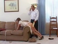 Spanked in her front room