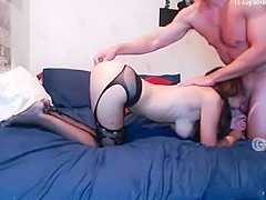 Crazy Amateur record with Stockings, Big Tits scenes