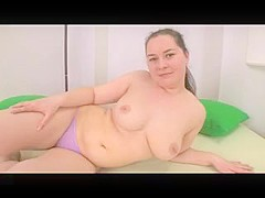 Cute Chubby Fat Teen GF fingering her Wet Pink Pussy