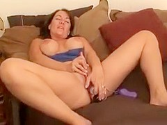 Big titty milf plays with pussy and fucked hard