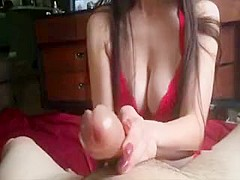 Handjob Goddess gives the hottest Handjob you've ever seen!