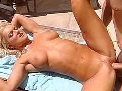 Fabulous pornstar Barbara Summer in exotic blonde, gaping adult clip