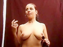 Busty Babe Gives Sloppy Blowjob And Gets Facial
