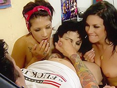 Crazy pornstars Andy San Dimas, Coco Velvett and Draven Star in horny brunette, blowjob sex clip