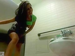 Public bathroom flashing