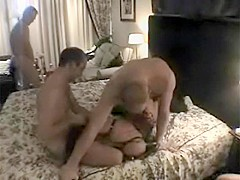 Amateur gangbang in resort