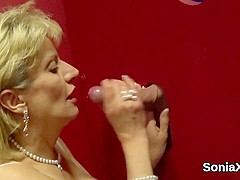 Unfaithful english mature lady sonia flaunts her huge melons