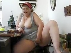 Crazy Amateur video with BBW, Solo scenes