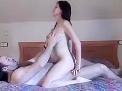 Amateur Euro couple first time sex on film