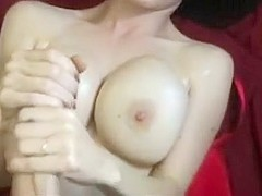 Busty babe enjoys big cock playing and stroking in pov