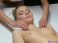 Mary Kalisy & Paula Shy in Intimate sensual lesbian orgasms - MassageRooms