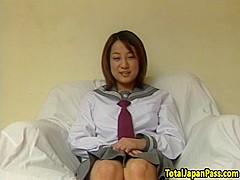 Asian schoolgirl screwed on all fours