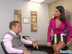 Faketit milf fucked deeply on office table
