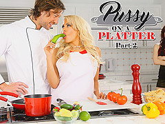 Aria Alexander & Jean Val Jean & Luna Star in Pussy On A Platter Part 2 - DigitalPlayground