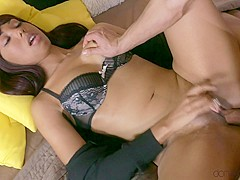 Kristof Cale & Sade Rose in Pretty Brit with big black butt - DaneJones