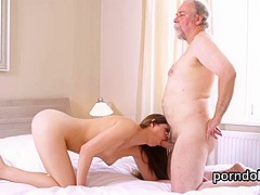 Nice college girl gets seduced and plowed by her older schoolteacher