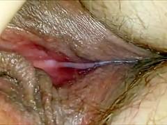 Teasing a horny MILF's vagina closeup