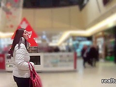 Perfect czech teen is seduced in the hypermarket and screwed in pov