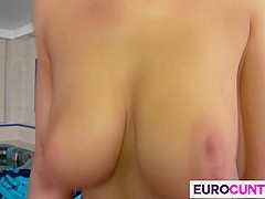 Lucky guys fuck two hot euro cunts
